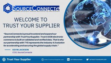 SourceConnecte Joins the Trust Your Supplier (TYS) Network